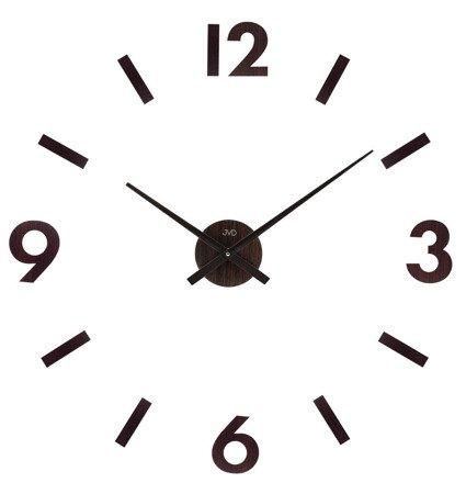 Zegar JVD ścienny naklejany DIY 80 cm DREWNO HC31.2