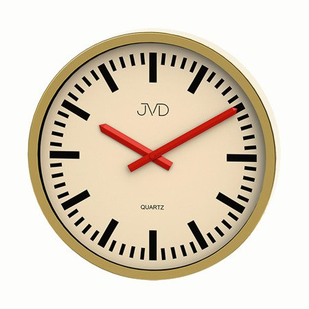 Zegar JVD ścienny nowoczesny ALUMINIUM H306.3