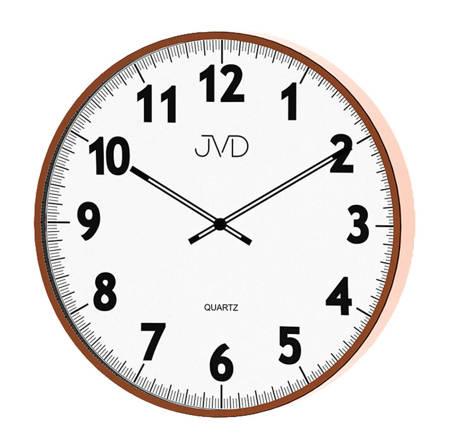 Zegar JVD ścienny różowe złoto duży 38 cm H13.2