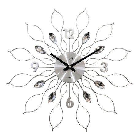 Zegar JVD ścienny srebrny DUŻY 49 cm HT105