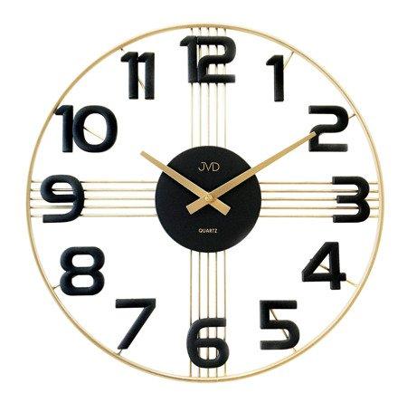 Zegar JVD ścienny złoty AŻUROWY 40 cm HT051.3