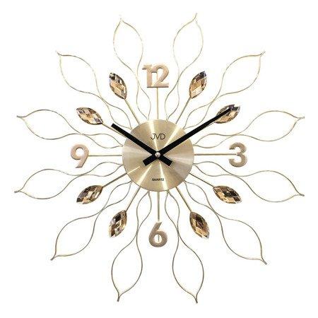 Zegar JVD ścienny złoty DUŻY 49 cm HT105.1
