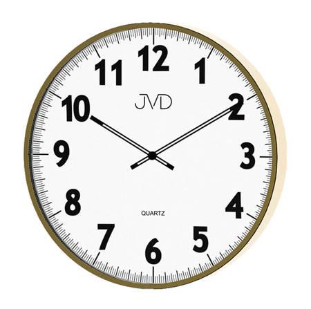 Zegar JVD ścienny złoty nowoczesny duży 38cm H13.3