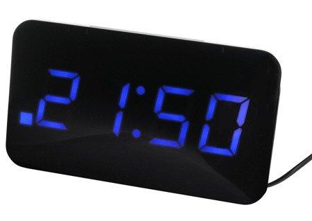 Zegar JVD sieciowy,14 cm, ładowarka USB, SB24.2