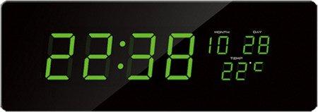 Zegar JVD sieciowy BARDZO DUŻY (51 cm), termometr, datownik DH2.1