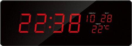 Zegar JVD sieciowy BARDZO DUŻY 51 cm, termometr, kalendarz DH2.2