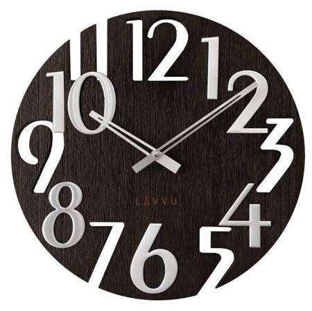 Zegar LAVVU ścienny DREWNIANY DUŻY 40 cm LCT1010
