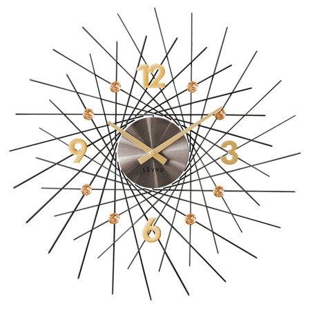 Zegar LAVVU ścienny KRYSZTAŁY duży 50 cm LCT1051