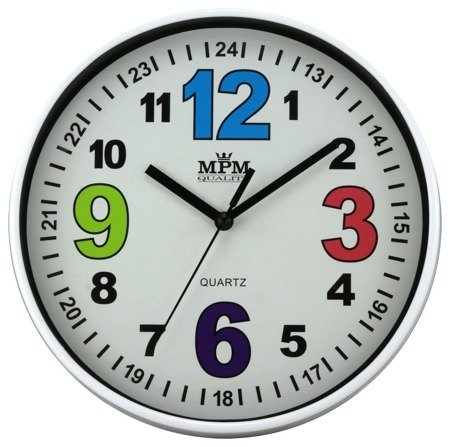 Zegar MPM dziecięcy 20 cm nauka godzin edukacyjny kolorowy E01.3686.00