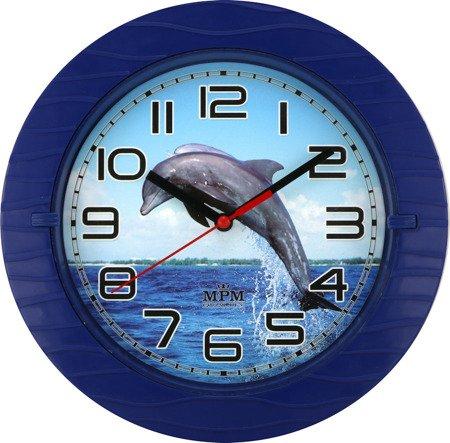 Zegar MPM ścienny 22 cm dziecięcy CICHY E01.3687.30