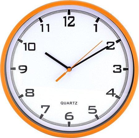 Zegar MPM ścienny 25,5 cm pomarańczowy tworzywo nowoczesny czytelny E01.2478.60.A