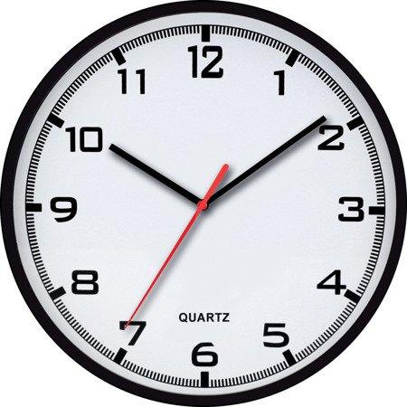 Zegar MPM ścienny 30,5 cm czarny tworzywo nowoczesny czytelny E01.2479.90.A