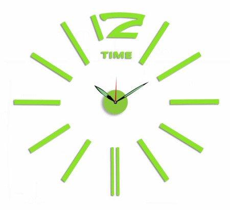 Zegar MPM ścienny 60 cm naklejany DIYzielony E01.3515