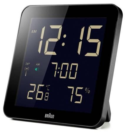 Zegar elektroniczny Braun ścienny RADIOWY BNC014BK