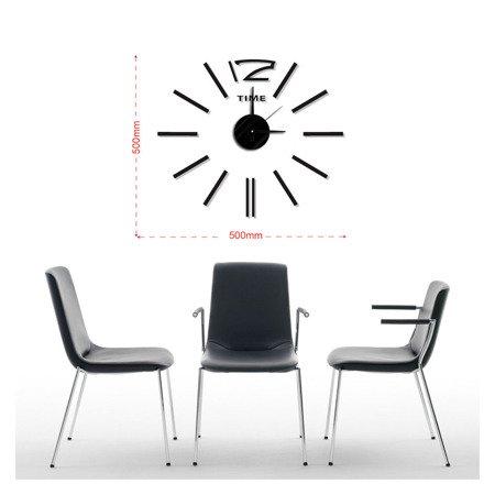 Zegar naklejany CZARNY 50 cm E01.3510