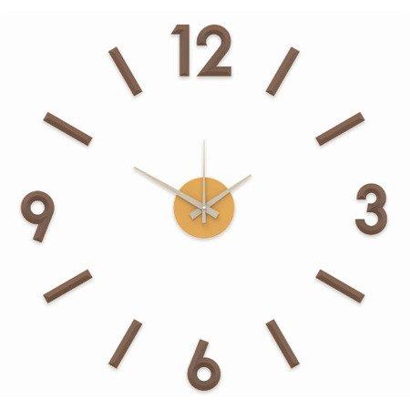 Zegar naklejany brązow CAŁE CYFRY 60cm E01.3771.50