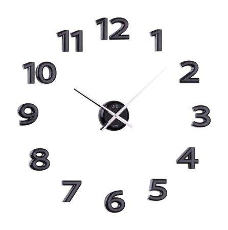 Zegar naklejany czarne CAŁE CYFRY 80 cm HB12.1