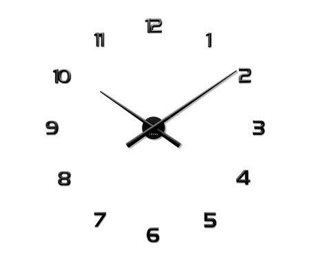 Zegar naklejany czarny CAŁE CYFRY 90 cm LCT1170