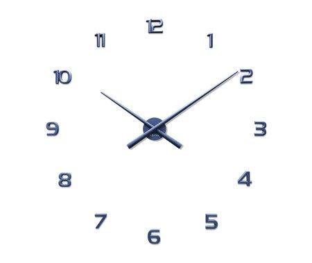 Zegar naklejany niebieski CAŁE CYFRY 90 cm LCT1172