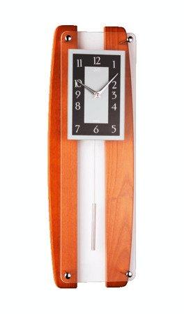 Zegar ścienny JVD Z WAHADŁEM szkło drewno N12033.41