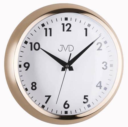 Zegar ścienny JVD aluminium złoty 32cm HT077.2
