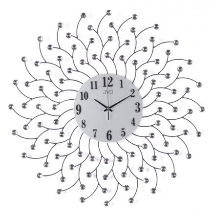 Zegar ścienny JVD kryształki stal duży nowy design HJ82