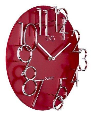 Zegar ścienny JVD nowoczesny płyta MDF METAL  HB10