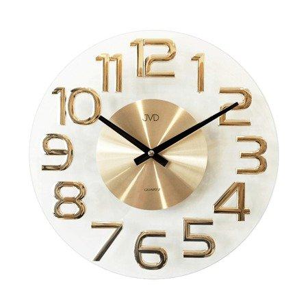 Zegar ścienny JVD nowoczesny szkło HT098.1