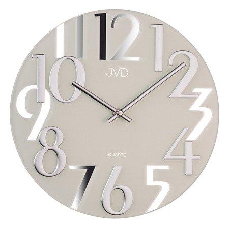 Zegar ścienny JVD nowoczesny szkło HT101.1