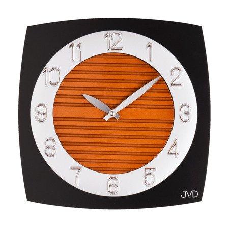 Zegar ścienny JVD szkło drewno N11043B