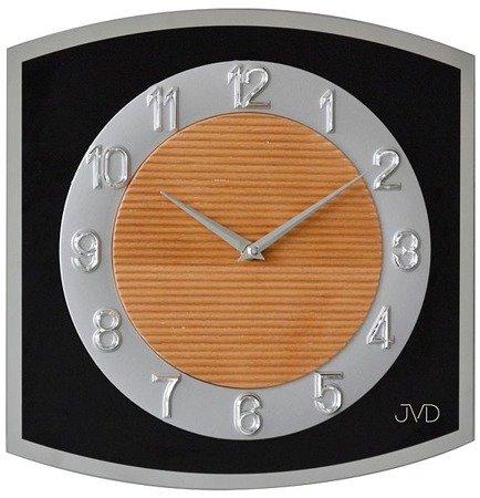 Zegar ścienny JVD szkło drewno N13048.2