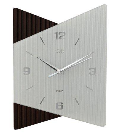 Zegar ścienny JVD szkło drewno NS13011.2