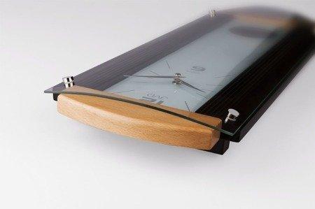 Zegar ścienny JVD z wahadłem szkło drewno N12003