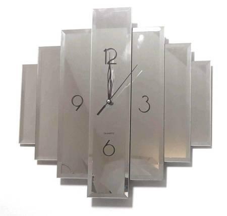 Zegar ścienny LUSTRO nowoczesny CICHY 999 SW