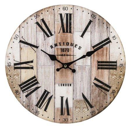 Zegar ścienny MDF retro loft EFEKTOWNY 34cm 124264