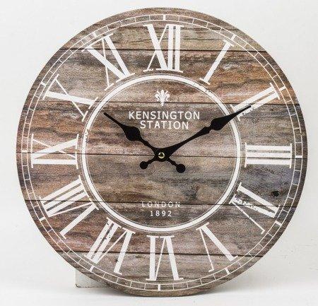 Zegar ścienny MDF retro loft EFEKTOWNY 34cm 124266