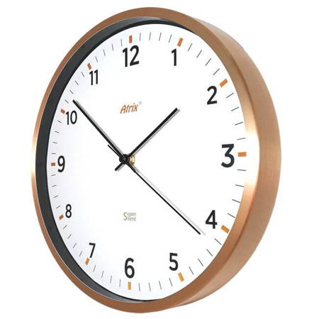 Zegar ścienny METALOWY złoty 30 cm AL5134G SC