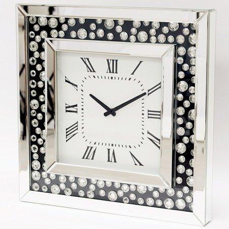 Zegar ścienny PIĘKNY kryształy lustro szkło DUŻY (0,5m) 112463