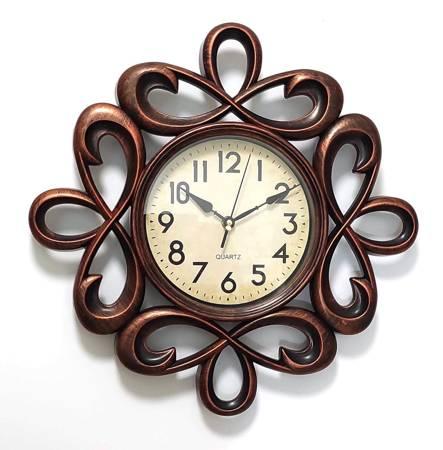 Zegar ścienny RETRO brązowy miedziany 40cm SN54491