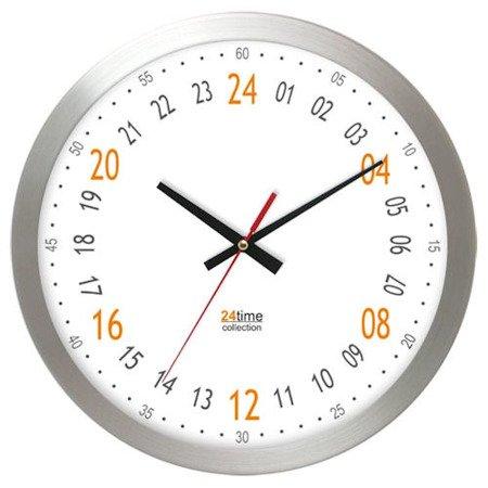Zegar ścienny aluminium 24-godzinny AL2412H24A-1