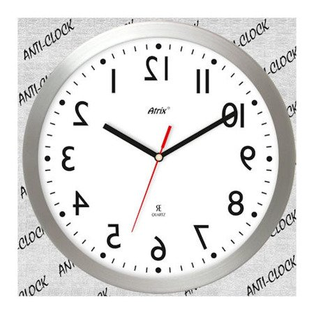Zegar ścienny chodzący do tyłu anti-clock 2412AC