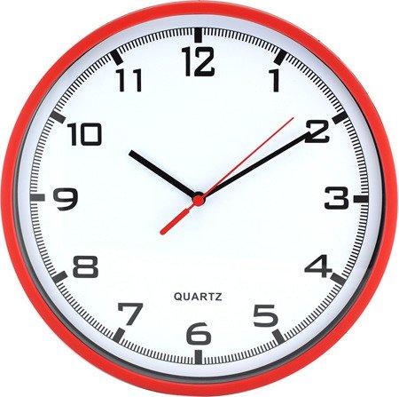 Zegar MPM ścienny 25,5 cm czerwony tworzywo nowoczesny czytelny E01.2478.20.A