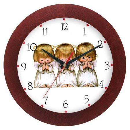 Zegar ścienny dla dzieci ANIOŁKI ATW300A1 MAH SW