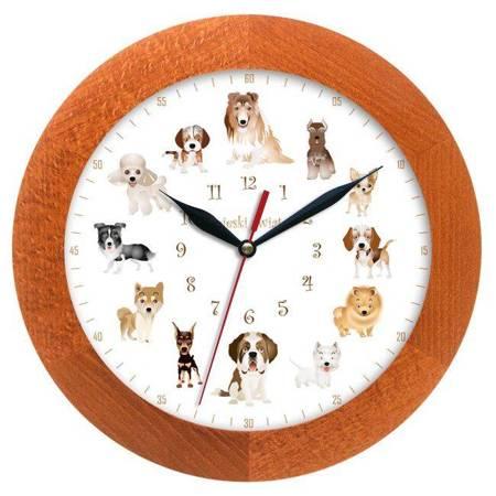 Zegar ścienny dla dzieci PIESKI ATW300P2 CAL SW