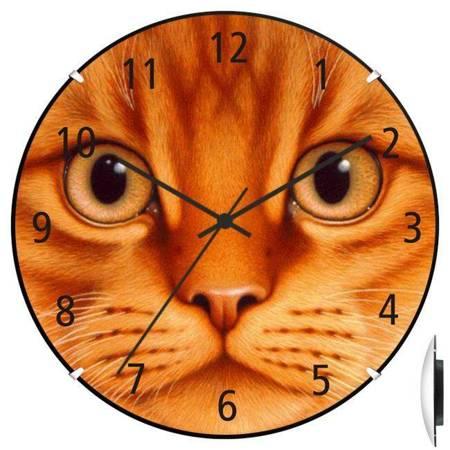 Zegar ścienny dla dziecka KOT ATE900KK BL SW