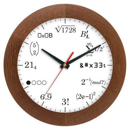 Zegar ścienny drewniany matematyczny ATW300M3 CD