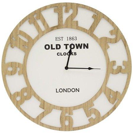 Zegar ścienny drewniany nowoczesny loft  duży 103718