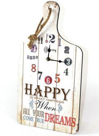 Zegar ścienny drewniany retro deska do krojenia średni 105632