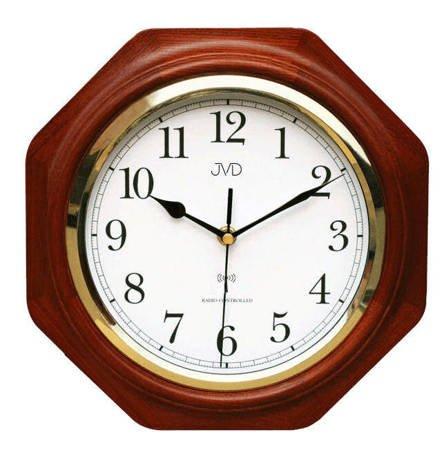 Zegar ścienny drewno STEROWANY RADIOWO NR7172.3