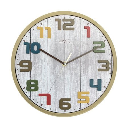 Zegar ścienny dziecięcy CICHY drewno 30,5 cm HA51.1